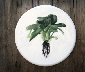 [Image: Bok Choy Oil Painting]