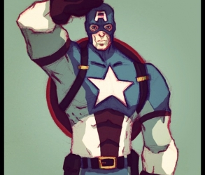 [Image: Captain America Style Digital Commission]