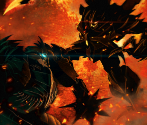 [Image: Transformers - Grimlock vs Predaking]